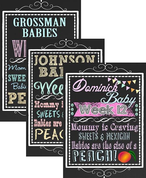 Week pregnancy sign