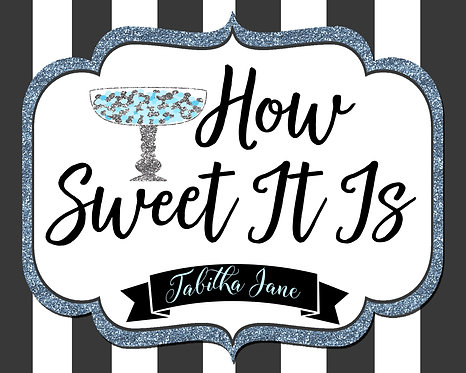 Sweet 16 candy buffet sign