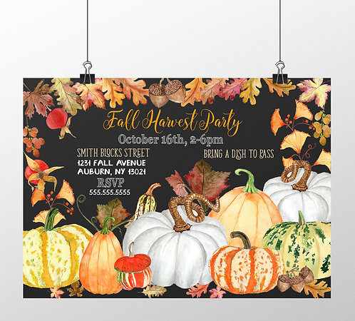 Pumpkins Galore Fall Invites