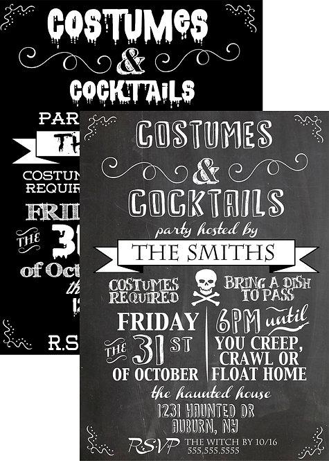 Costume & Cocktails Invite