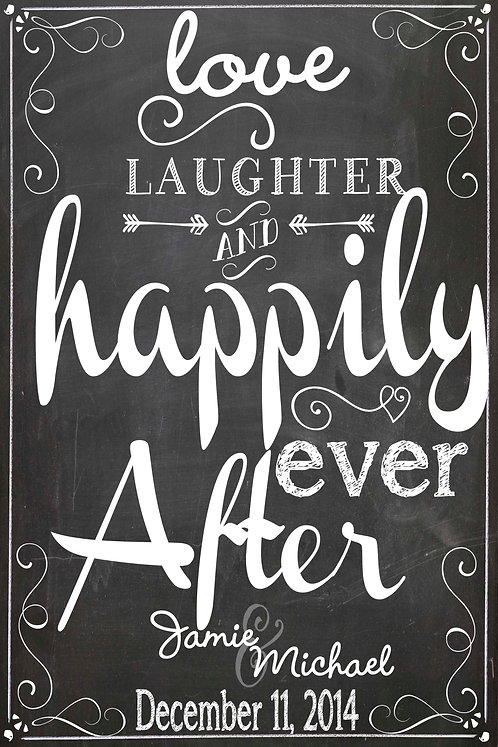 Love, Laughter, Hapily Ever After BW