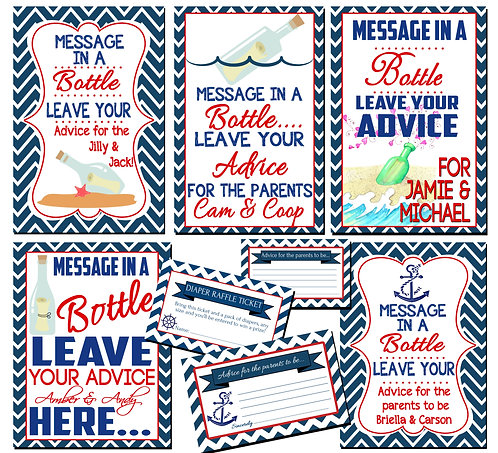 Ahoy it's a boy shower package