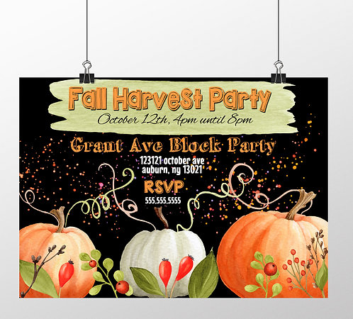 Fall Party Watercolor