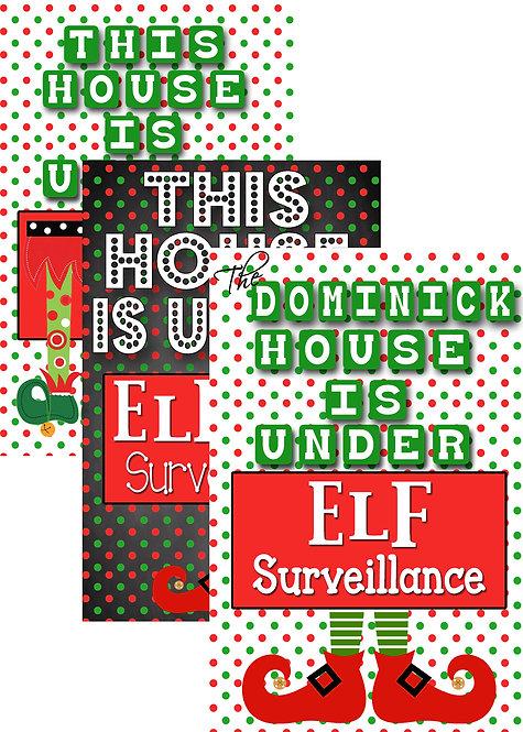 Elf on the Shelf Sign + Letter