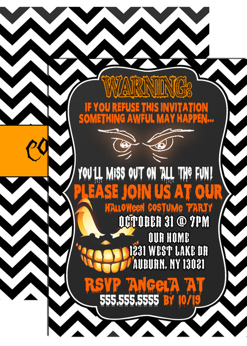 spooky pumpkin invitation