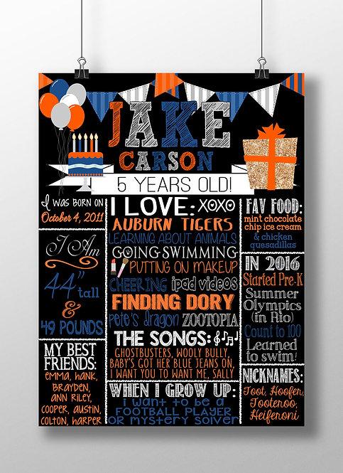Orange & Blue Birthday