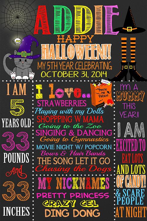 1st halloween sign