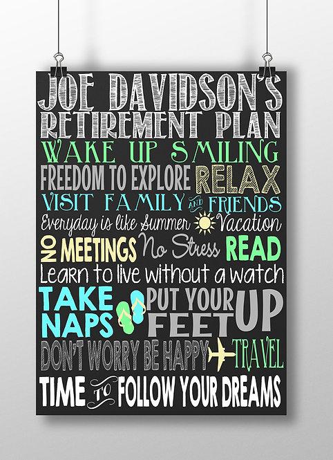 Retirement Plan Sign