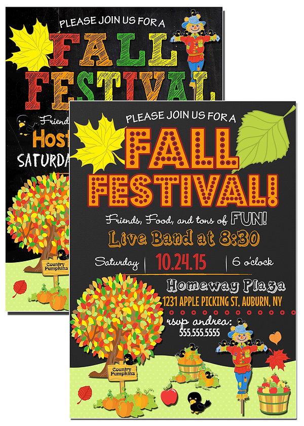 custom fall festival invite fall festival invitations free for you