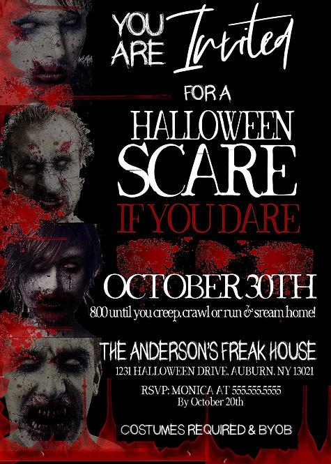 Zombie Invitations