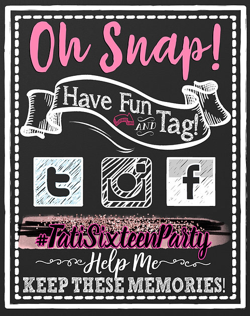 Social Media Party Sign