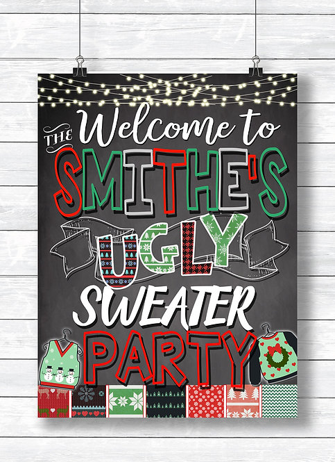 Ugly Sweater Party Welcome