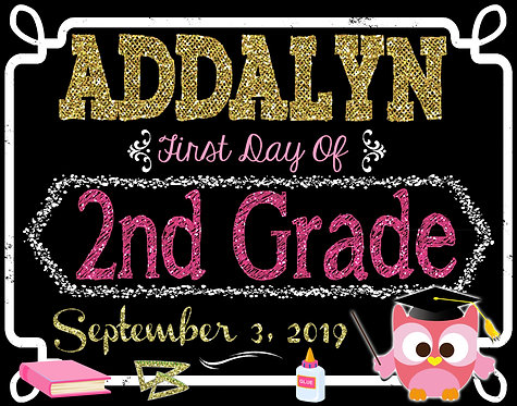 Pink & Gold 1st day School