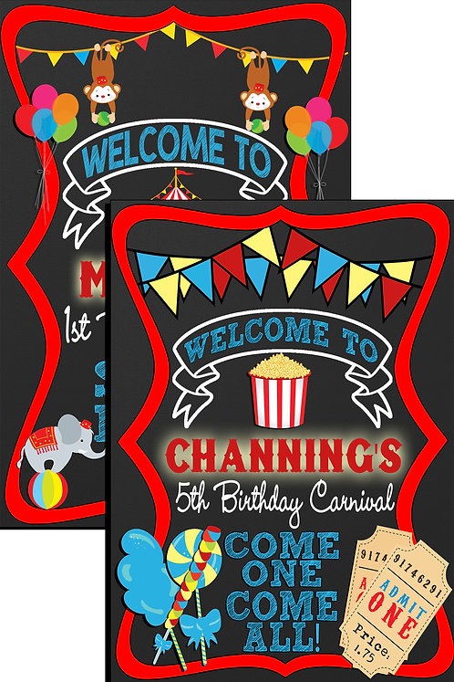 Carnival Welcome Sign
