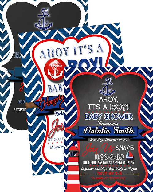 Ahoy it's a boy shower invite