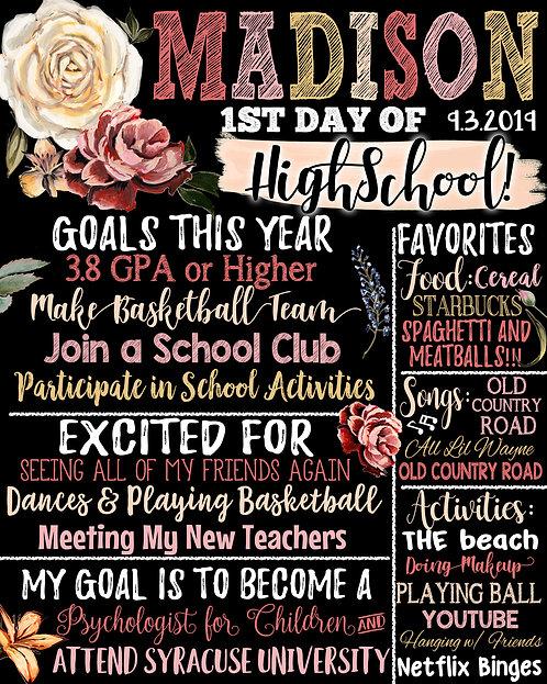 Girls First Day of High School