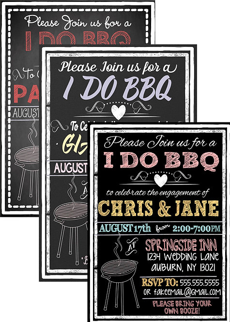 Unique I DO BBQ Invite