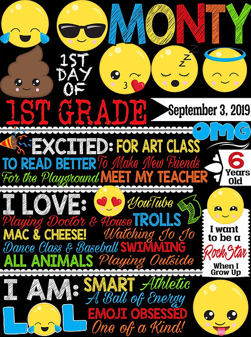 Emoji 1st day of school