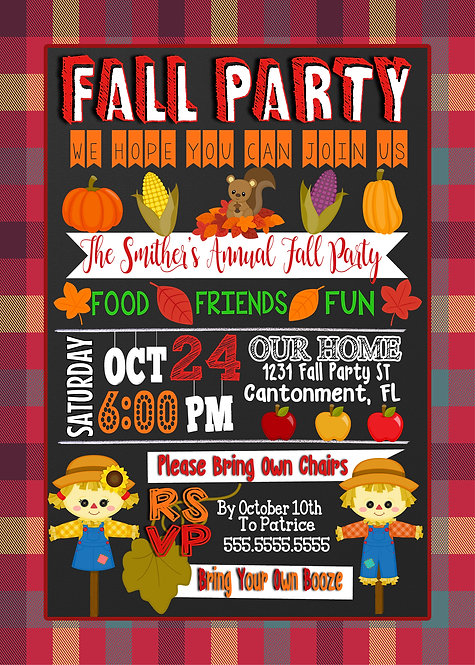 Fall Fesitval Invites 2019