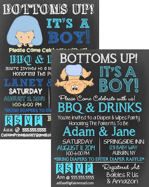 Bottoms Up, It's a BOY!
