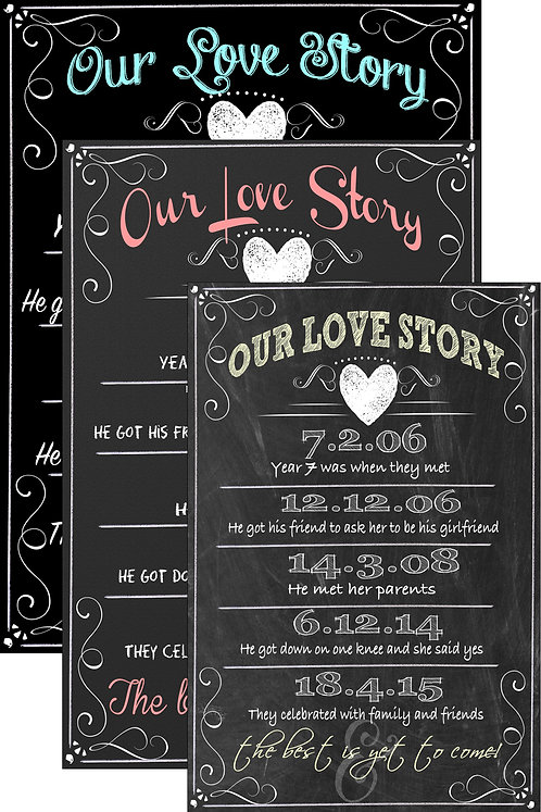 Our Love Story Sign Custom