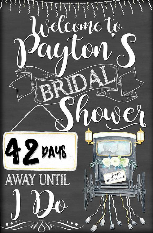 Vintage Bridal Shower Welcome