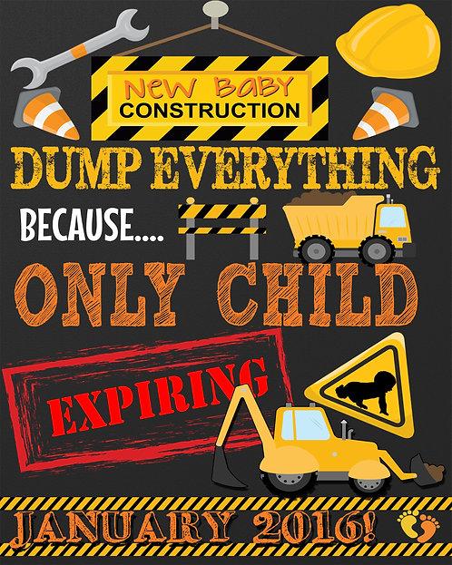 Construction Pregnancy Announce