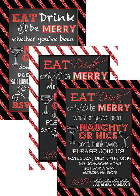 Naughty or Nice Invites