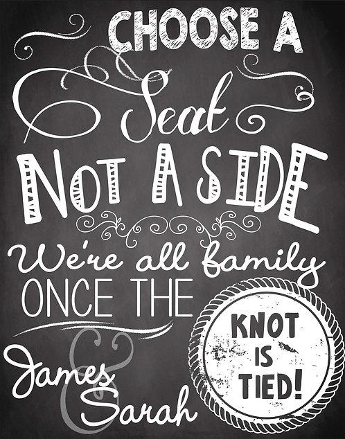Choose a Seat, Not Side Chalk