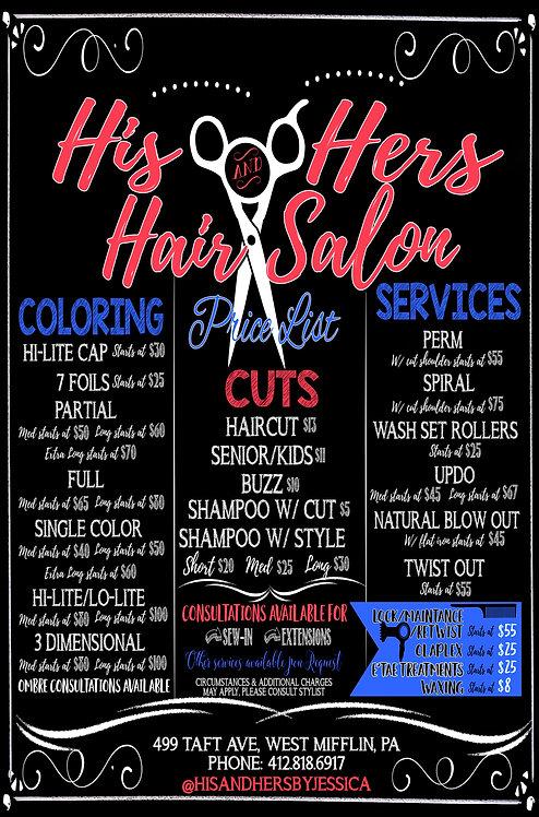 Modern Hair Salon Signs