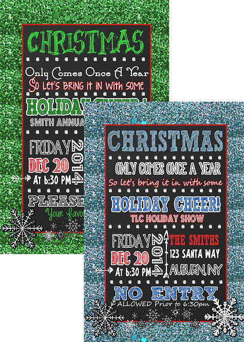 Glitter Christmas Invitation