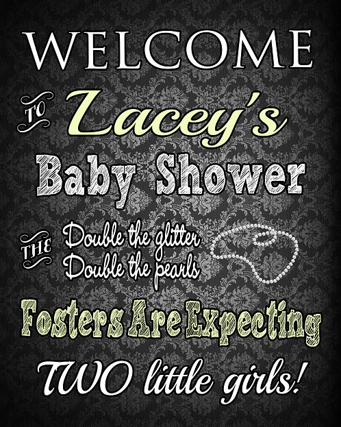 Twin Baby Shower Welcome