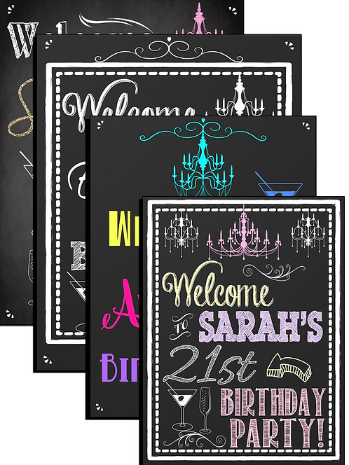 21st birthday Party sign