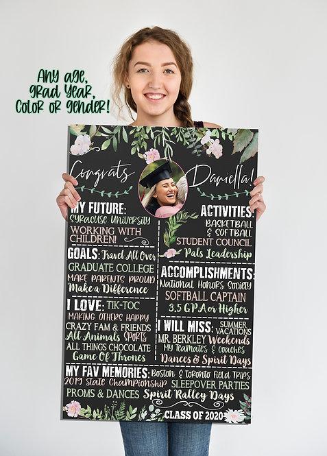 Floral Graduation Sign