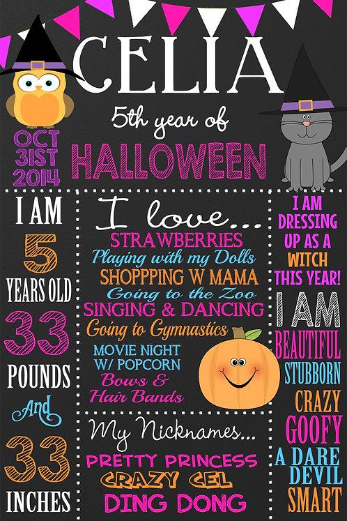 Halloween Milestone Board