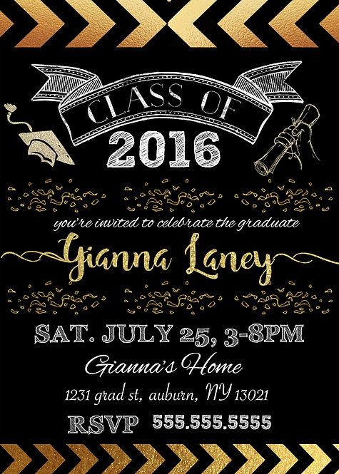 Gold & Black graduation