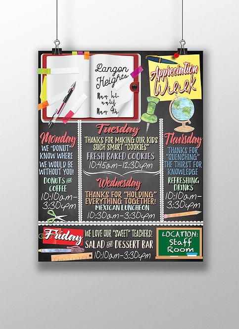 Teacher Appreciation Week Flyer