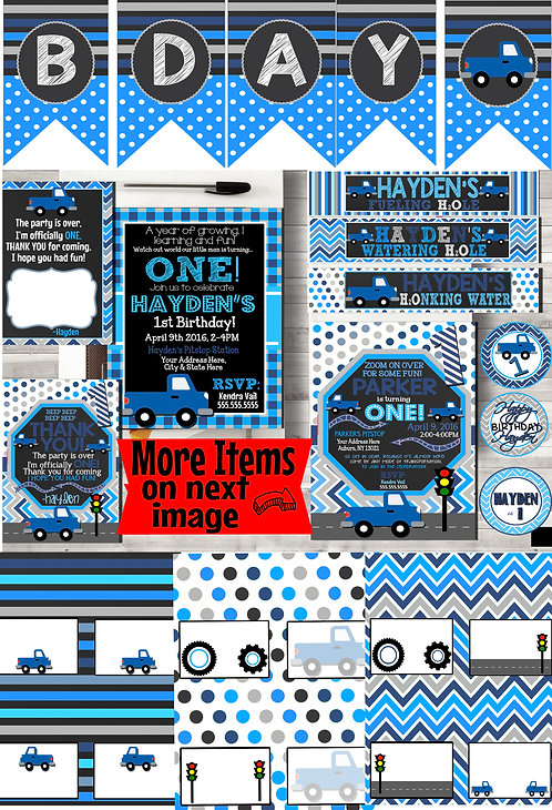 Little Blue Truck Party Package