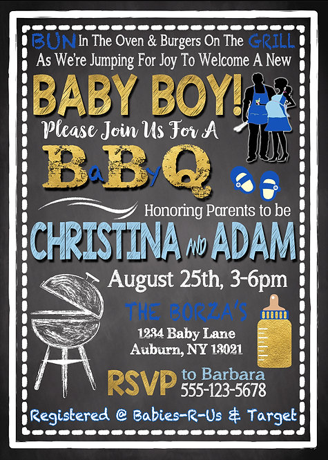 BBQ Boy Baby Shower