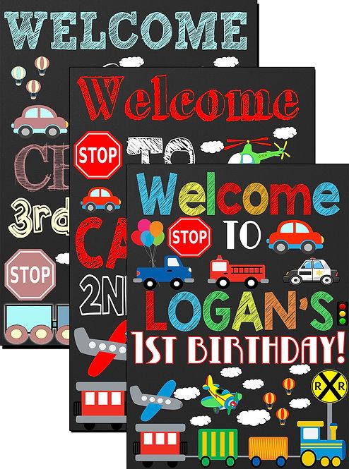 Auto Birthday Sign