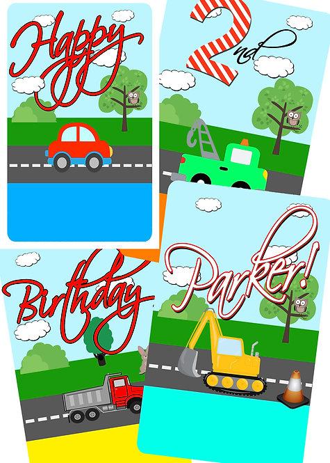Transportation DIY Banner