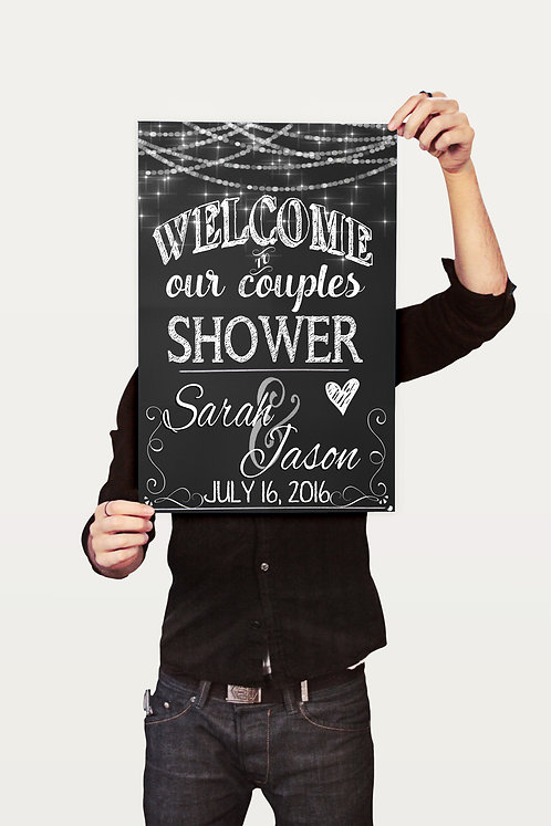 Couples Shower Welcome Sign
