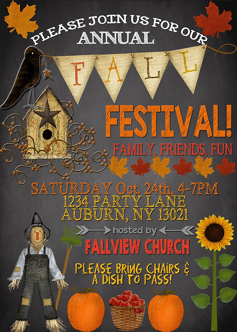 Vintage Fall Fest Invite