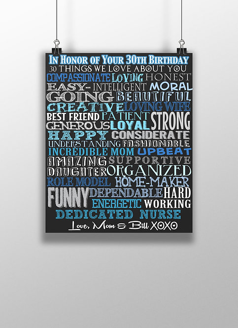 30th birthday gift for him