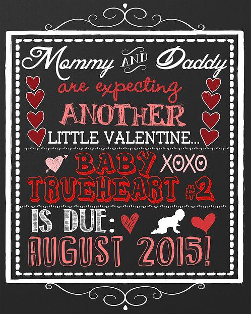 Valentine pregnancy announcement