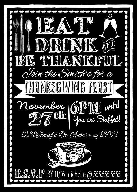 Thankful Thanksgiving Invites