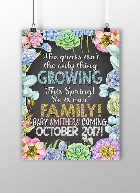 Spring Pregnancy Announcement