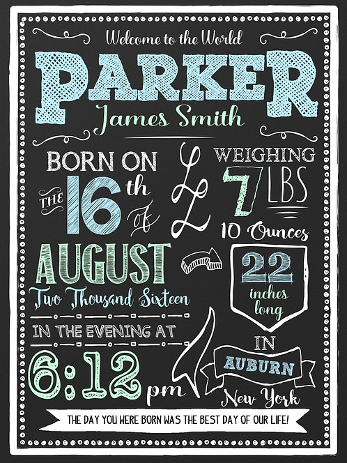 Newborn Boy Announcement