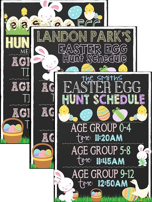 Easter Egg Hunt Schedule