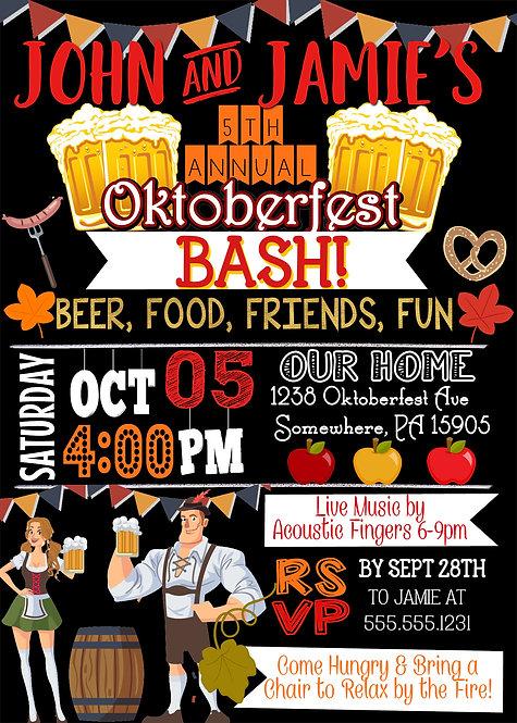 Oktoberfest Party Invite